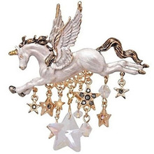 Ms brooch brand design popular choice The horse shape badge цена и фото
