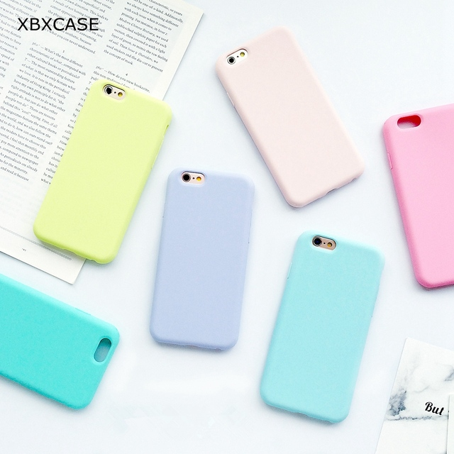 67dc6b55f9 XBXCase Macarons Color TPU Silicone Matte Case for iPhone 6 6S 7 8 Plus 5 5S
