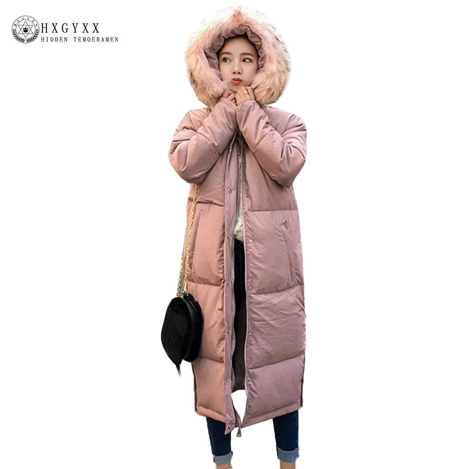 X-long Warm Winter Wadded Jacket Women 2017 New Fur Fashion Hooded Military Parka Down Cotton Quilted Coat Female Outwear Okb146 women winter coat 2017 fashion hooded fur collar hoody long parka mujer winter warm down cotton wadded coat quilted jackets