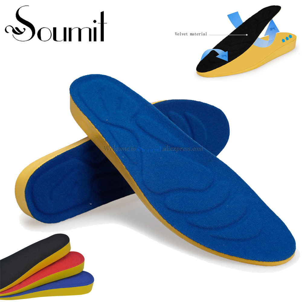 Soumit Full Length PU Breathable Invisible Height Increase Shoe Insoles Sports Lift Kit Heels Taller Inserts Pads for Men Women цена 2016