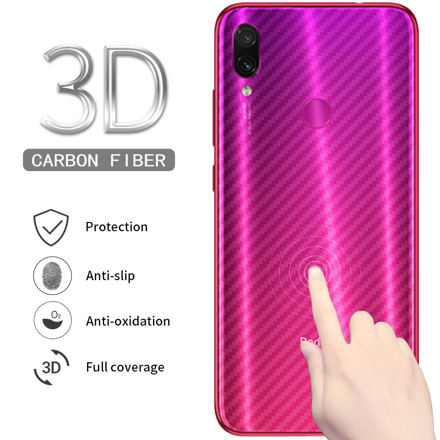 5PCS Back Screen Protector For Xiaomi Mi 9 8 A2 Llite POCO <font><b>Pocophone</b></font> <font><b>F1</b></font> redmi note 7 6 5 pro Carbon Fiber Film <font><b>Sticker</b></font> image