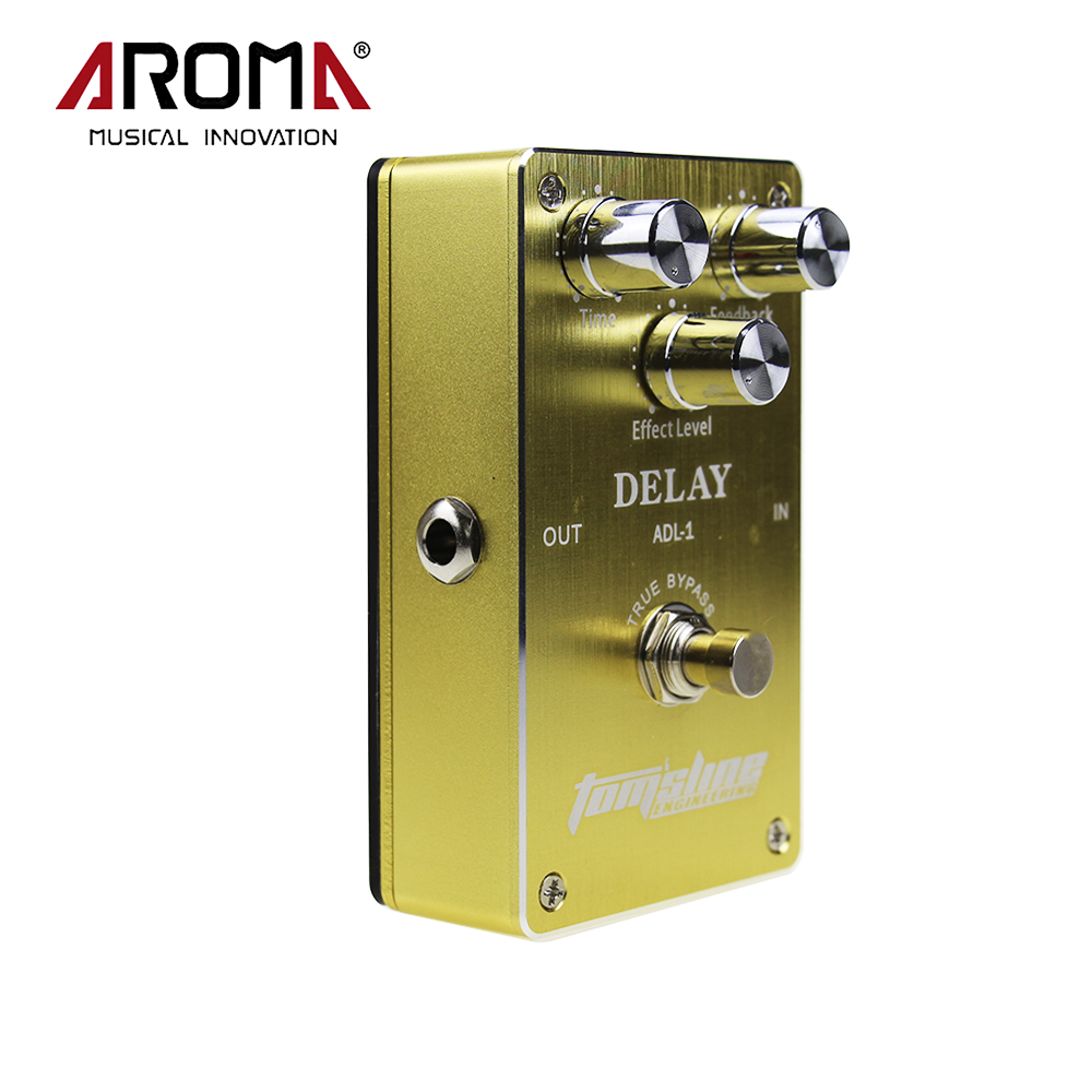New Arrival Guitar Aluminum Alloy Delay Effect Pedal Housing True Bypass Design With 3 Adjustable Knobs Aroma ADL-1 aroma aos 3 aos 3 octpus polyphonic octave electric mini digital guitar effect pedal with aluminium alloy true bypass