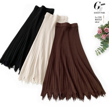 Wasteheart Autumn Winter Coffee Khaki Women Skirt Casual High Waist Ankle Length A Line Skirts Clothing Imitated Plus Size