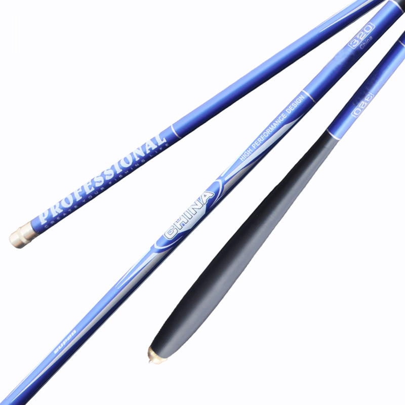 Stream Best-sellin carbon fiber telescopic fishing rod 5.4m-7.2m ultra-light