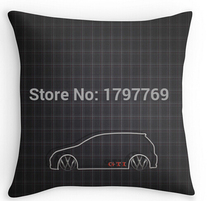 Funny GTI Tartan two sides Pillow Cases for 12 14 16 18 20 24 inch free