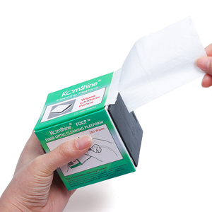 Image 4 - 5 pieces Komshine Fiber Optic Cleaning wipes FOCP suit for FC/SC/ST with 280 pieces. 1000+ cleaning times