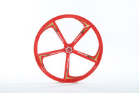 Free Shipping X4 Hot Lightweight Magnesium Alloy Wheels 24 Inches Bicycle Wheel Mountain Bike 5 Spokes