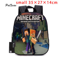 2017children Backpack Kindergarten Backpack Boy Cute MineCraft Cartoon Backpack Hot Game Backpack School Bags For Boys