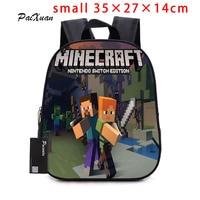 2017children Backpack Kindergarten Backpack Boy Cute MineCraft Cartoon Backpack Hot Game Backpack School Bags For Boys