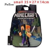 2017 Детский рюкзак детский сад рюкзак мальчик милый Minecraft мультфильм рюкзак Горячая игра рюкзак Школьные ранцы для мальчиков и девочек