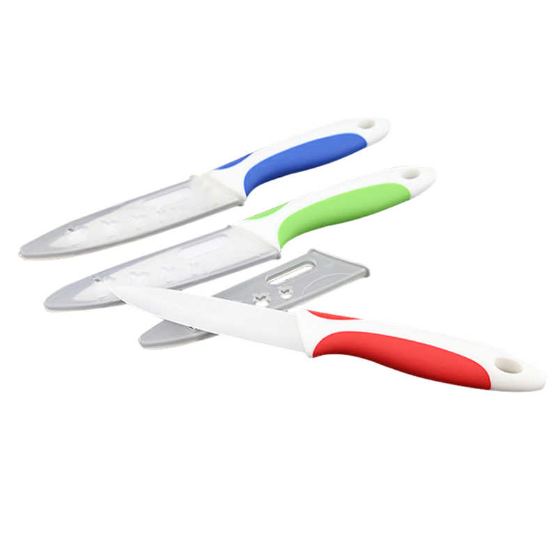 Pisau Dapur Kualitas Dapur Memasak Alat Pisau Keramik 3/4/5 Inch Putih Warna-warni Pegangan Keramik Pengupas