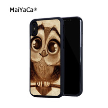 цена на cute owl fashion hot sell soft edge hard back mobile phone cases for iphone 4s 5 5c 5s 5se 6s 6plus 7 7plus case cover