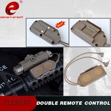 Elemento airsoft tático lanterna peq 15 peq 16a 15 duplo remoto airsoft luz m3x wmx200 arma interruptor de luz ex177