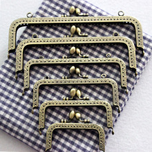 DIY Antique Bronze Flower Bud Head Metal Purse Frame Handle Kiss Clasp Lock for Bag Sewing Craft Tailor Accessories KZ151323 10pcs lot 20cm embossing kiss clasp lock for women shoulder messenger bag metal frame purse handle diy accessories for bag