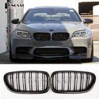 M5 carbon fiber front ABS kidney bumper grille for BMW 5 series F10 F11 520d 523i 530d 530i 540i 535i 528d 2010 2016