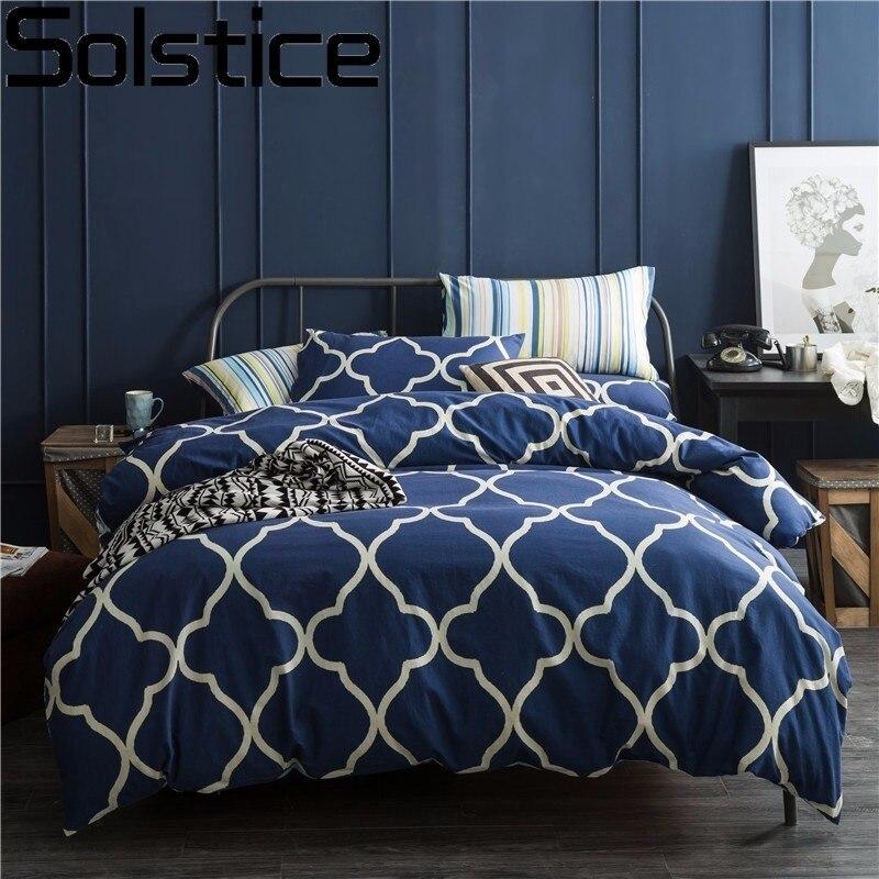 Solstice Cotton Deep Blue Brief Geometric Striped Nordic