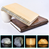 RGB LED Night Light Folding Book Light USB Port Rechargeable Wooden Magnet Cover Creative Home Table