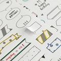 6 Unids/lote Simple expresión de Dibujos Animados Pegatinas Etiqueta Engomada Hecha A Mano Creativa Papelería Escolar Niños Juguetes Pegatinas Diario Planificador