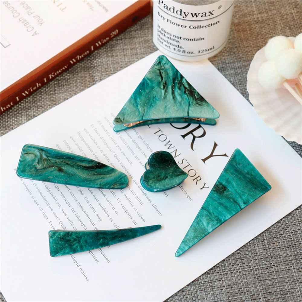 Vintage Emerald Serie Geometrische Driehoek Haarspelden En Greep Clip Vrouwen Persoonlijkheid Temperament Haar Clip Haar Accessoires