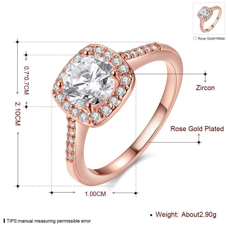 LKO 2017 Fashion Engagement Rings For Women Wedding Rose Rings