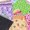 Floral Cotton Fabric Patchwork Cloth DIY Sewing Quilting Tissue Cloth for Clothes Bags Toys 10x10 cm Apparel Sewing Fabric 4