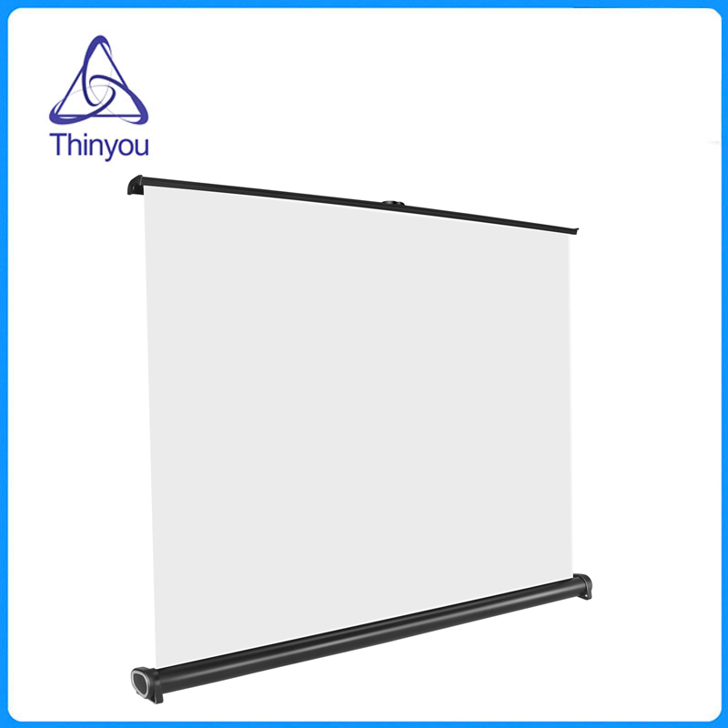 Thinyou 50 inch 4 3 HD easy carry projector screen Manual pull down type Adjustable Height