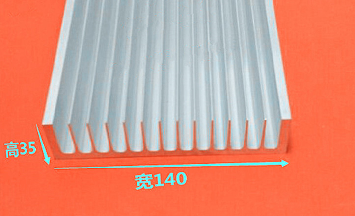 Free Ship Electronic Radiator Aluminum Radiator 140*35*100mm High-power Aluminum heat sink length can be customized Cooler Fin 75 29 3 15 2mm pure copper radiator copper cooling fins copper fin can be diy longer heat sink radiactor fin coliing fin