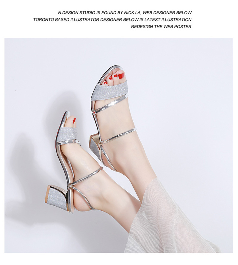 HTB18G5lacnrK1RjSspkq6yuvXXaH High Heel Sandals Women Shoes Peep toe Square Heels Ladies Sandals 2019 Summer Shoes Woman Fashion Heel 6cm A645