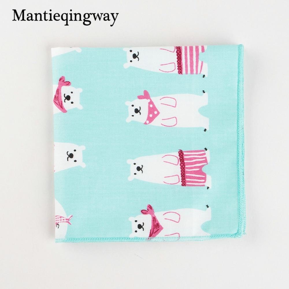 Cotton Mens Suit Wedding Handkerchiefs Chest Towel Cartoon Pocket Square Formal Pocket Hanky Ladies Hankies