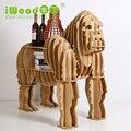 Enfeites artesanais europeus creative home artes gorila simulação artesanato em madeira mobiliário doméstico criativo Prateleiras De Madeira frete grátis