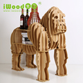 European craft ornaments creative home arts gorilla simulation wood crafts creative home furnishing Wooden Shelves free shipping