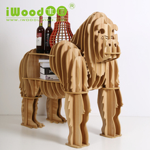 European craft ornaments creative home arts gorilla simulation wood crafts creative home furnishing Wooden Shelves free shipping