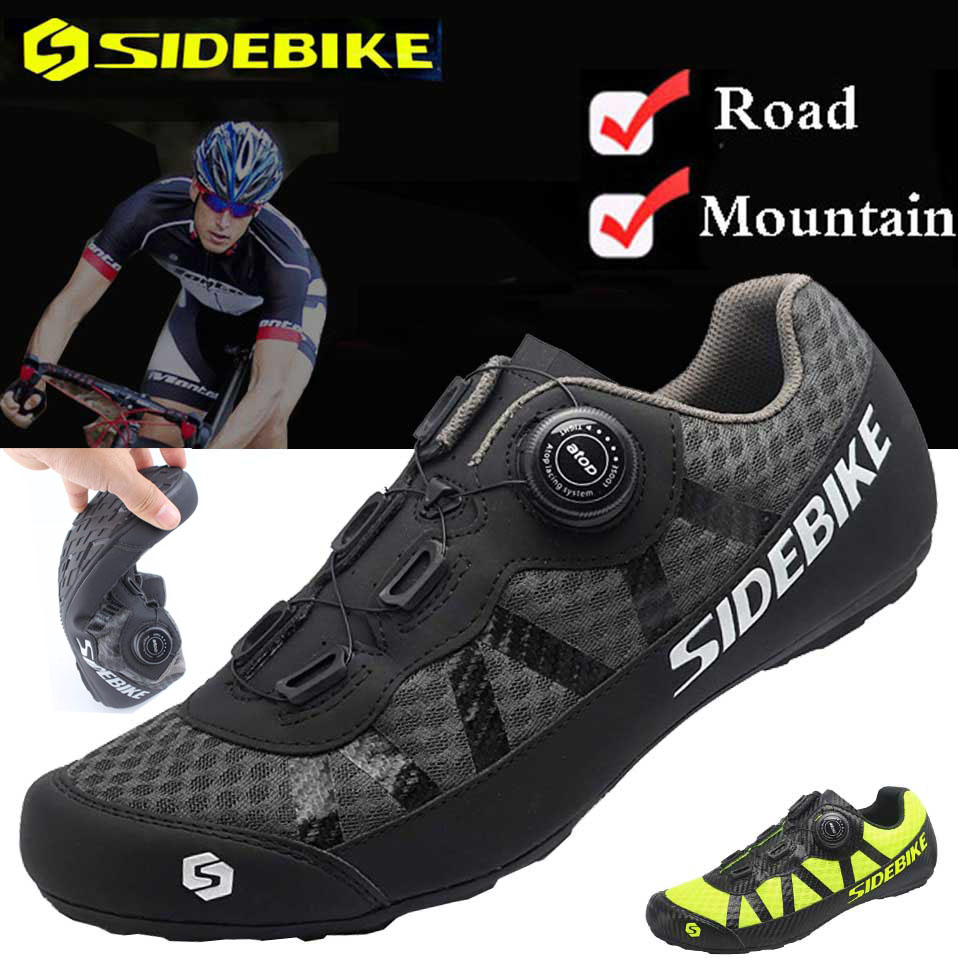 SIDEBIKE Cycling Bike Bicycle Shoes man Sneaker Breathable Outdoor Sport Professional Road Bicycle Shoes Non Slip