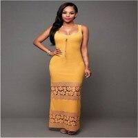 Floral Printing Sexy Long Dress 2017 Women Bodycon Sleeveless Vintage Party Dress Exotic Long Maxi Women Dress