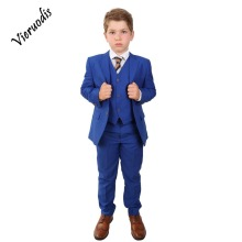 Page Boy Royal Blue Suit Italian Wedding Prom 3 Piece Boys Saks Blue Suits boys blue suits boys suits page boy prom wedding party outfit 3 piece