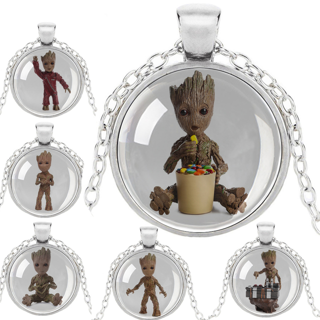 Flowerpot Baby Groot Dancing Necklace Plant Flower Pot Groot