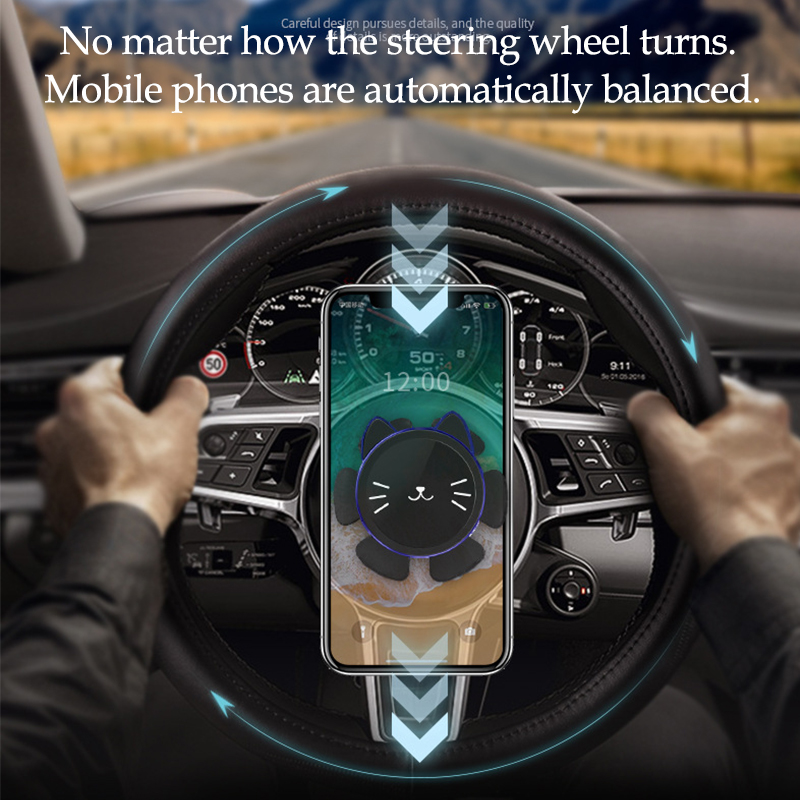 AUTO DECORATIVE ACCESSORIES Car Steering Wheel Bike Handlebar Phone Holder Clip