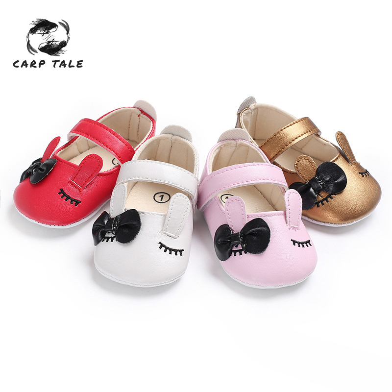 Baby Shoes Radient The New Baby Girl Shoes Lovely Bowknot Leather 4 Color Shoes Anti-slip Sneakers Soft Sole Toddler Shoes 0-12 Month Drop Ship Mother & Kids