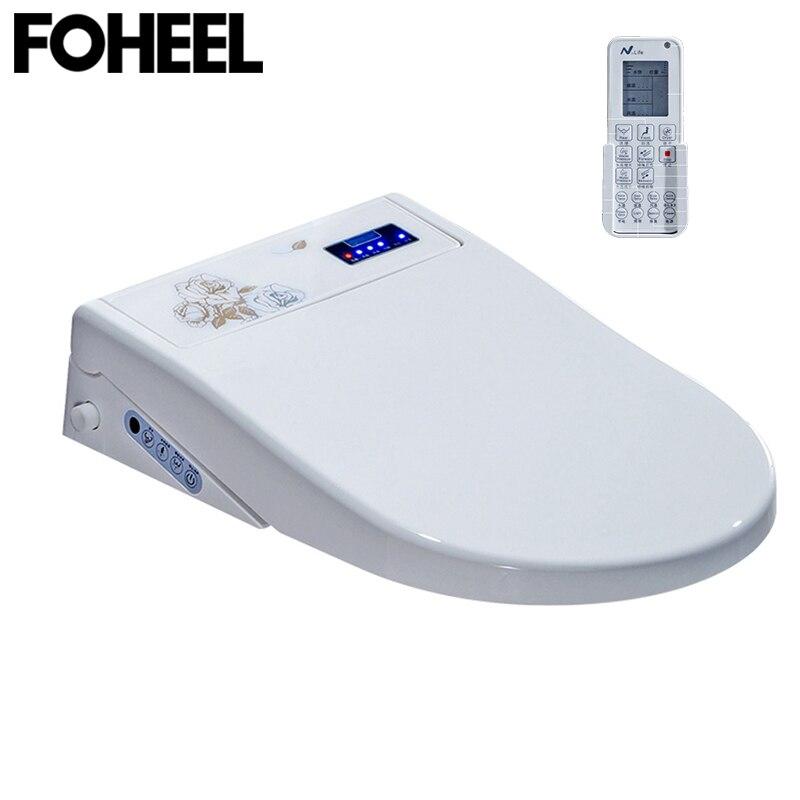 FOHEEL assento do vaso sanitário inteligente display LED inteligente toilet seat bidê eletrônico controle remoto SPA automática wc assento do vaso sanitário inteligente