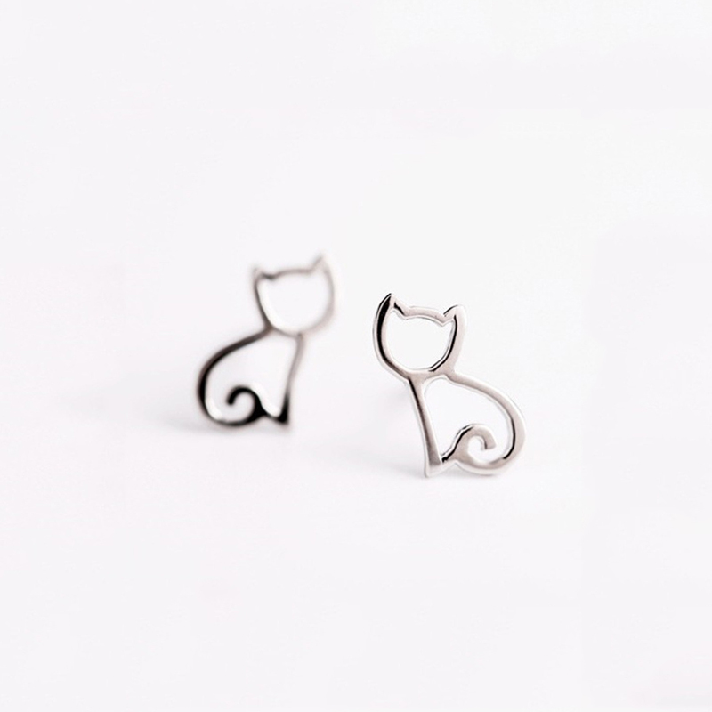 Cute Cat Stud Earrings Jewelry