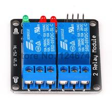 5PCS Black 2 Channel Relay Module 5V Lamp Low Level for SCM Household Appliance Control Arduino PIC