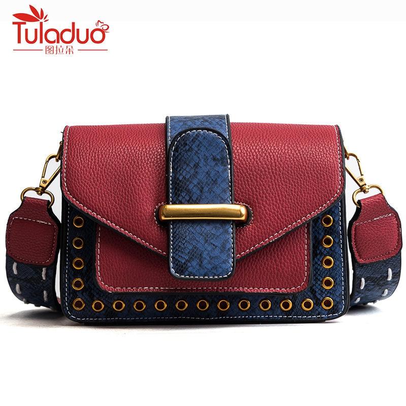 Fashion Brand Serpentine Women Messenger Bags Flap Crossbody Bags For Women Small Lock Leather Bag Ladies Handbags Sac A Main