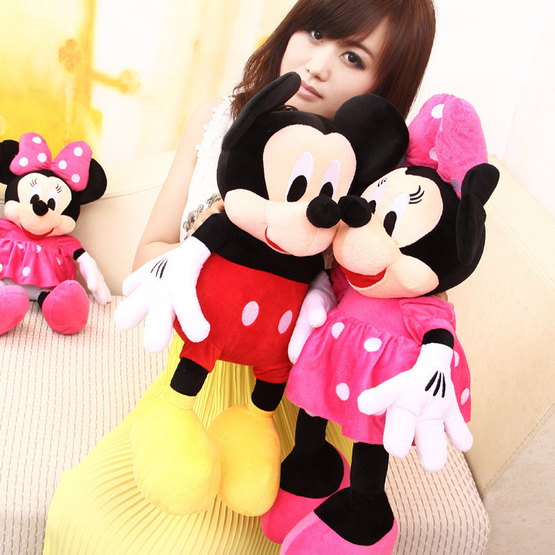 2pcslot 30cm Lovely Red Mickey Mouse And Pink Minnie Mouse Stuffed