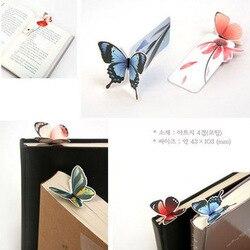 Kaufen 1 Erhalten 1! Insgesamt 2 Pcs! Neue Nette Schmetterling Kraft Lesezeichen für Bücher Marker Halter Schule Nettes Geschenk E0356