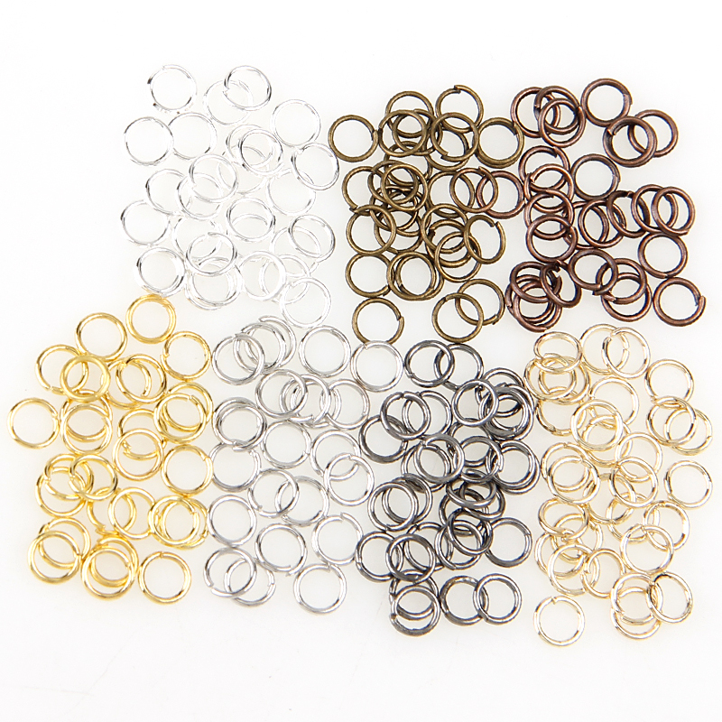 Fashion Box Mixed Color 3/4/5/6/7/8/10mm Tone Metal Open Jump Rings Necklace With Close Tool Ring DIY Jewelry Making