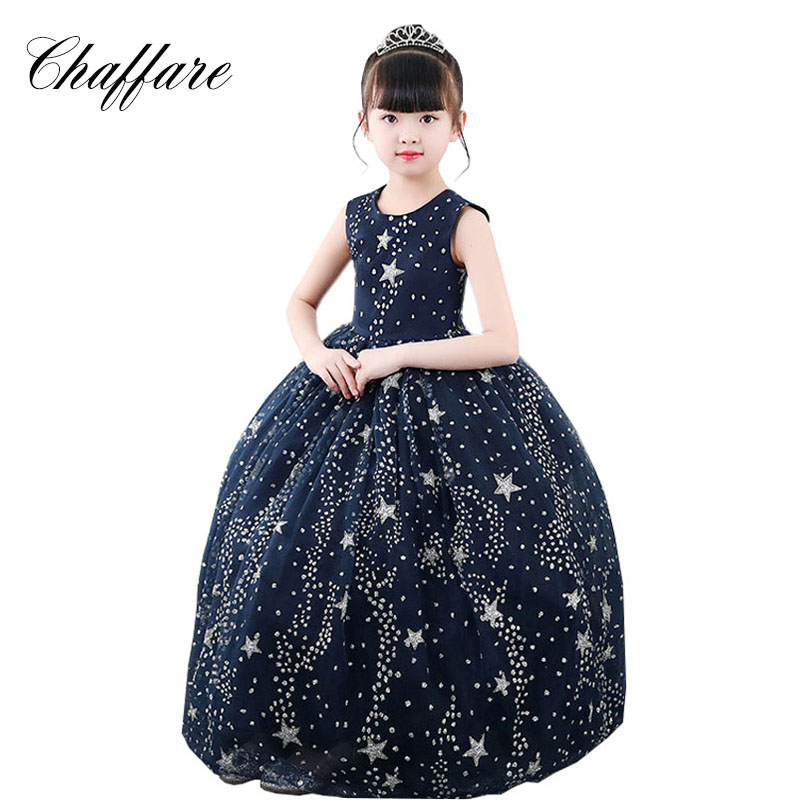 Chaffare Star Sequined Girls Dress Formal Pageant Princess Dress Vestidos Girl Kids Dresses For Girl Elegant Long Robe Fille 16 port poe switch with 2 gigabit tp sfp combo ports 802 3af 15 4w 10 100mbps