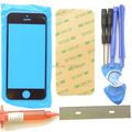 Black Front Outer Glass lens replacements Repair Kits for iPhone 5 5S 5C +UV Glue+Blade+Tools