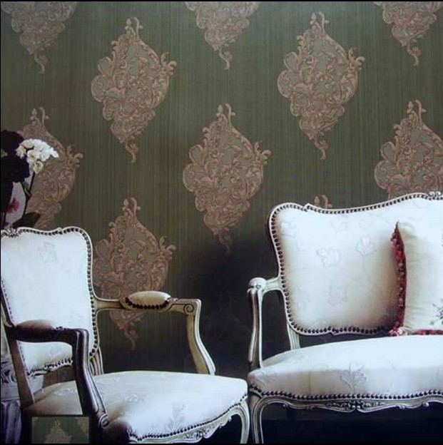 New fashion classical Dark olive green, Bronze, wrought iron background wallpaper VISUS fabric wall stickers vintage waterproof new fashion classical powder yellow pink yellow abstract art wallpaper stripe fabric vision tv wall stickers vintage waterproof