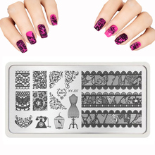 Nail Design New Nail Stamping Plates Lace Butterfly Crystal Pattern Stamp Polish Stainless Nail Art Templates Health Beauty 2016