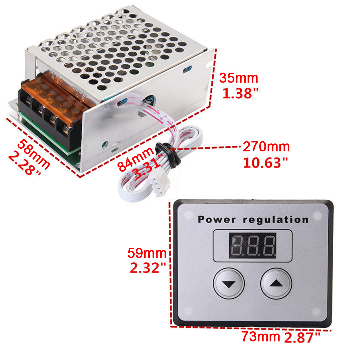 AC Regulator 4000W 220V Mayitr SCR Voltage Regulator Dimmer Electric Motor Speed Temperature Controller for Water Heater Lamps